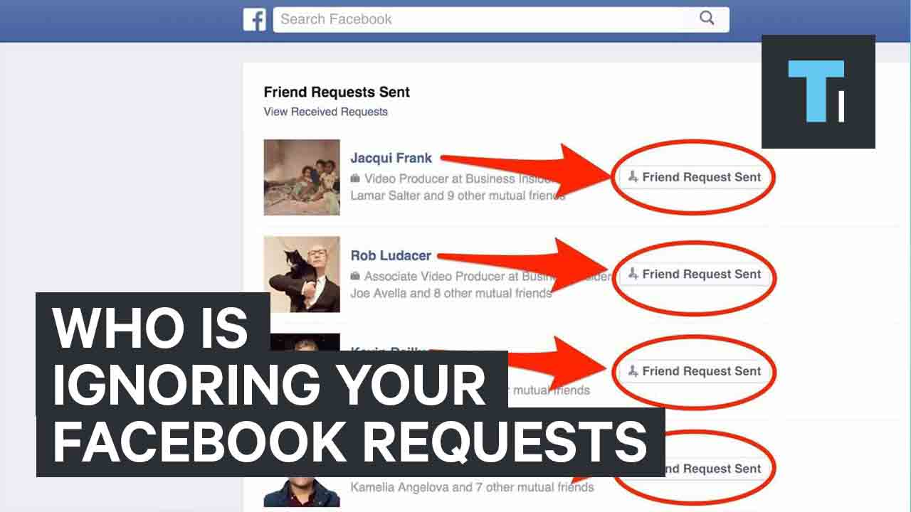 Who Is Ignoring Your Facebook Requests