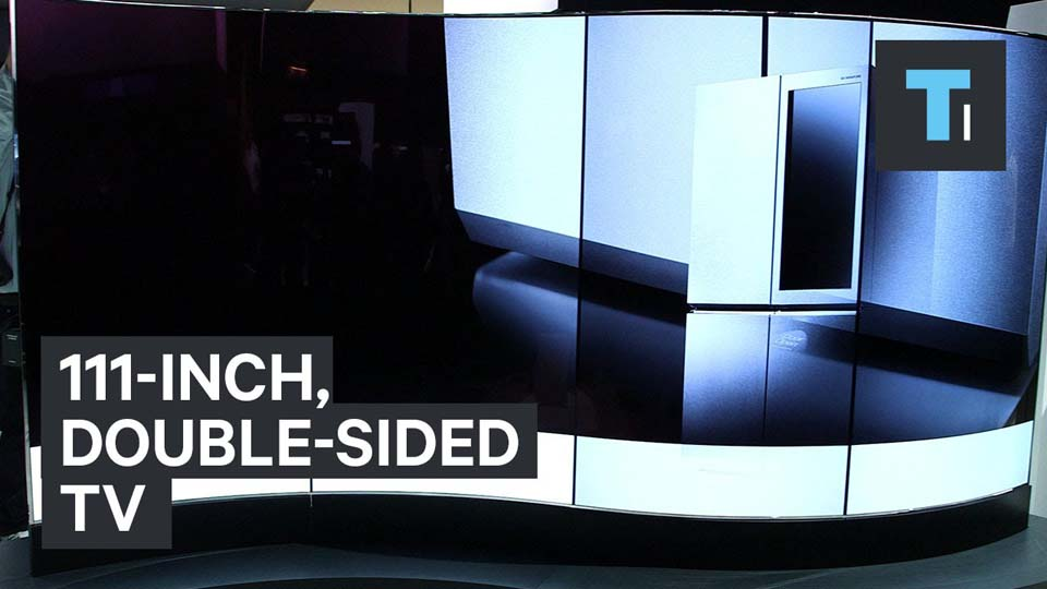 111-inch, Double-Sided TV