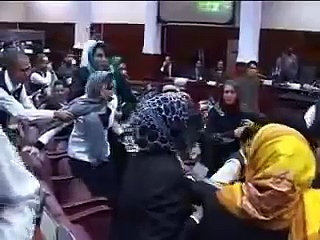 Ladies Fight in Afghan Parliament Session