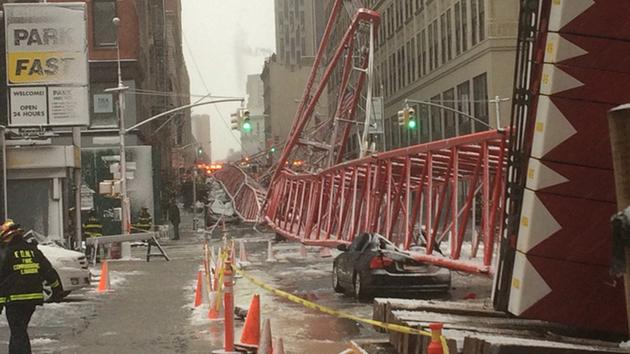 Crane Collapse in Tribeca Manhattan New York City