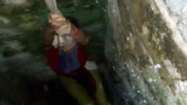 Selfie Tourist Rescued With Shirt Rope