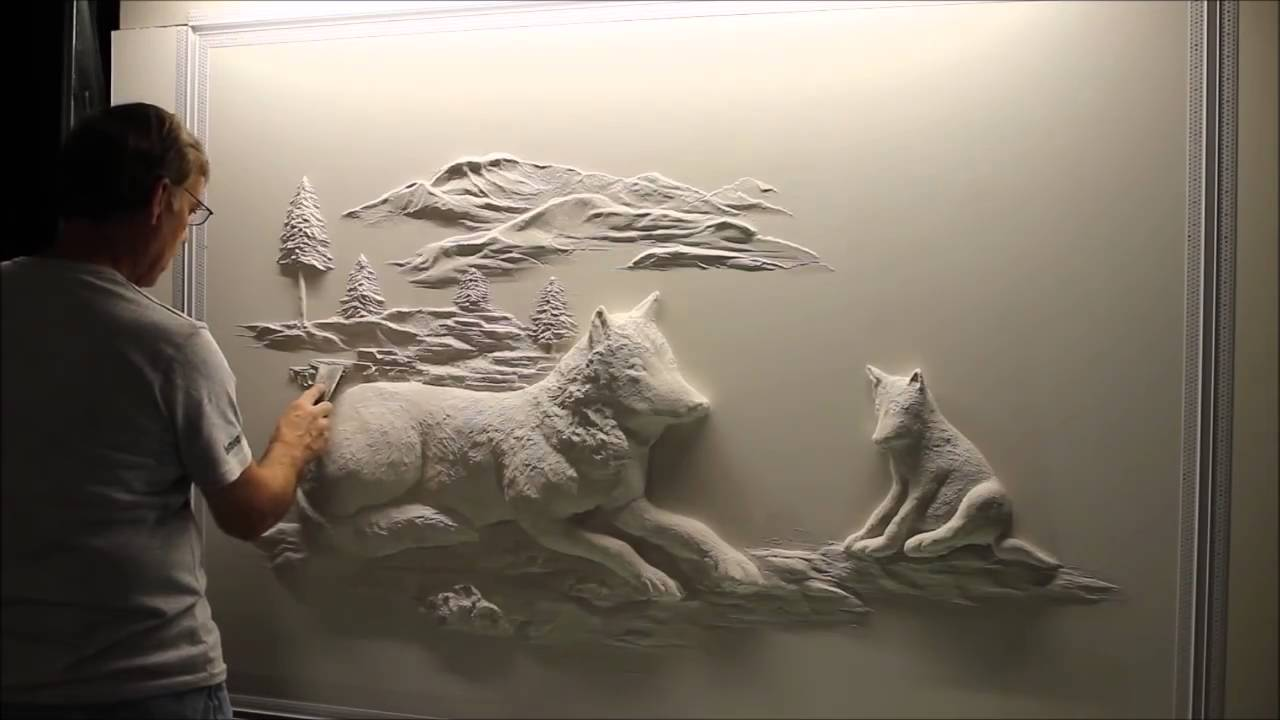 Amazing Drywall Art Sculpture by Bernie Mitchell