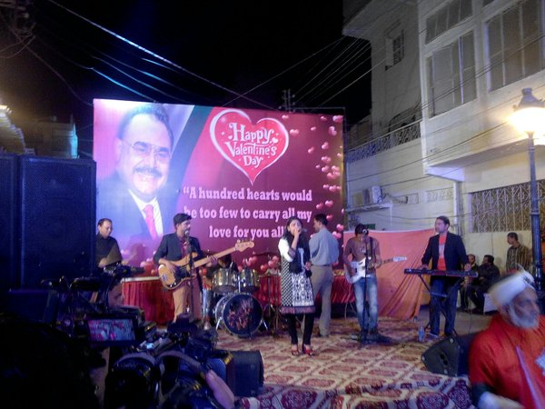 Valentine Day Celebration at MQM's Nine-Zero