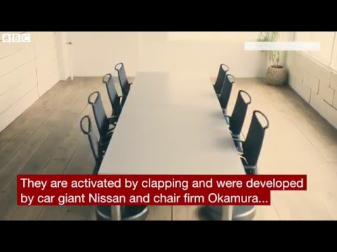 Nissan's Self Parking Robot Chairs Tidy Up Offices