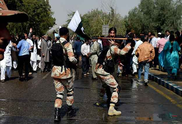 Firing On PIA Protesters