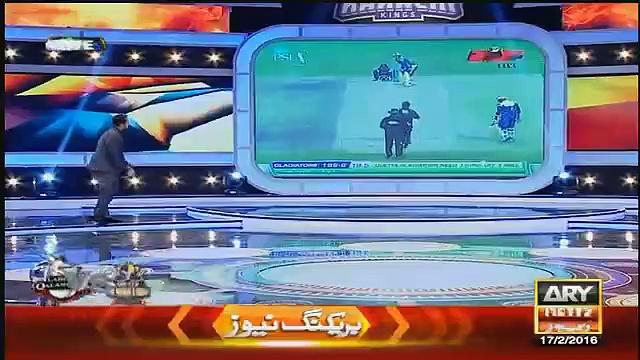 Waseem Badami & Umer Sharif Celebrating Lahore Qalandar's Defeat