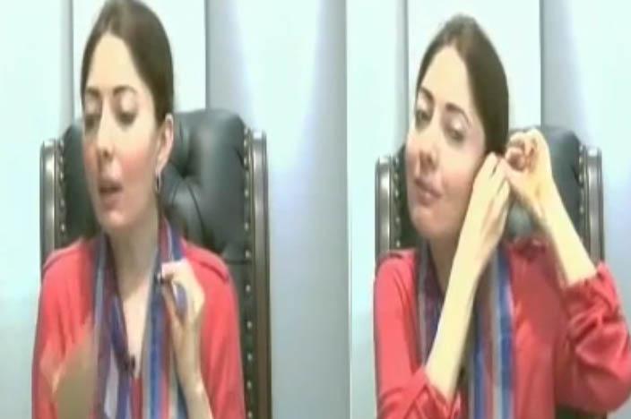 What Sharmeela farooqi doing behind camera video leaked