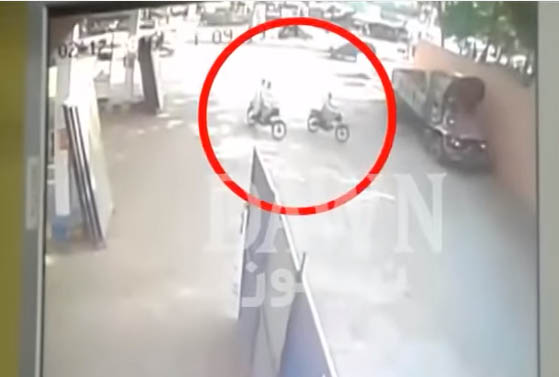 CCTV footage of Grenade Attack At Mobina Town Police Station
