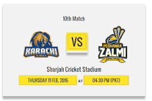 Karachi Kings vs Peshawar Zalmi 10th Match 1st innings Highlights