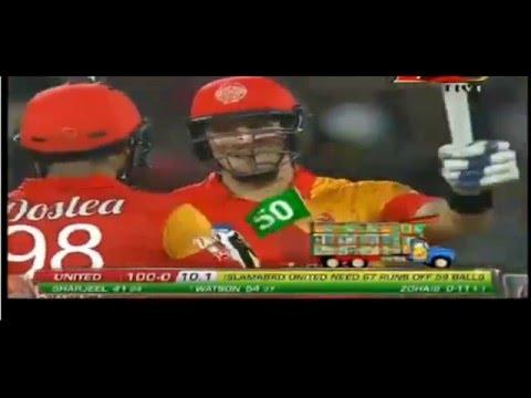 Match 9: Islamabad United vs Lahore Qalandars – Shane Watson's Innings