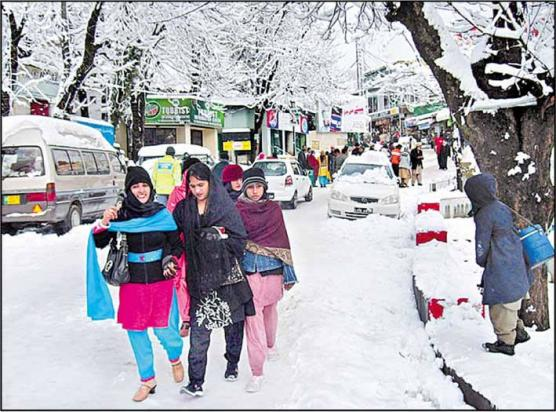 Murree: Snowfall Left Tourists Elated