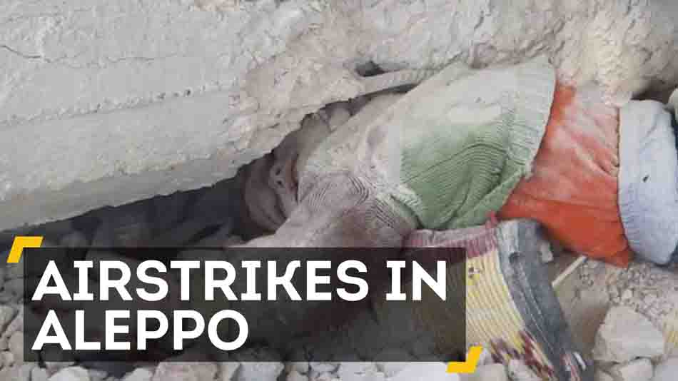 Graphic Video Shows Young Boy Being Pulled From Airstrike Rubble