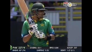 Babar Azam 83 Of 77 Balls Vs New Zealand 3rd ODI 31 Jan 2016
