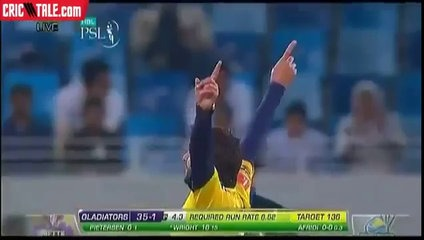 Shahid Afridi Gets the Wicket of Shakib ul Hassan