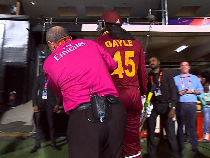 Umpire Bars Gayle from Batting