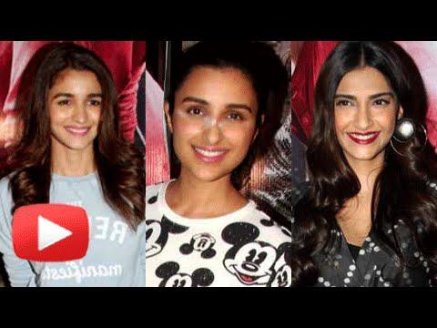 Alia Bhatt, Parineeti Chopra,Sonam Kapoor Ki & Ka Special Screening