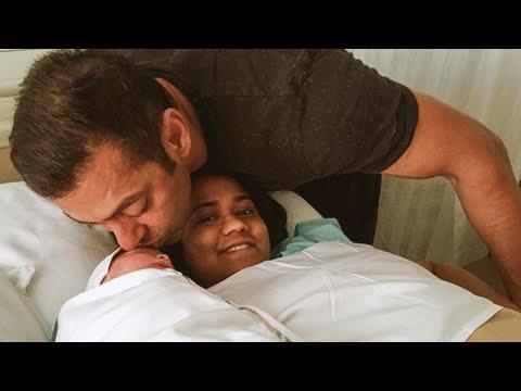 Salman Khan KISSES Nephew Ahil, Arpita Khan's Baby!