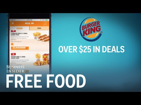 Fast Food Apps Give you Discounts just for Signing Up