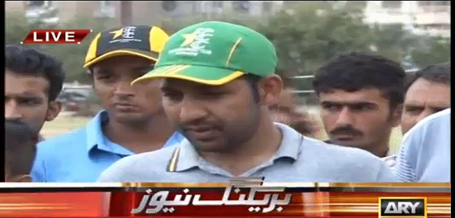 Sarfaraz-defends-Afridi