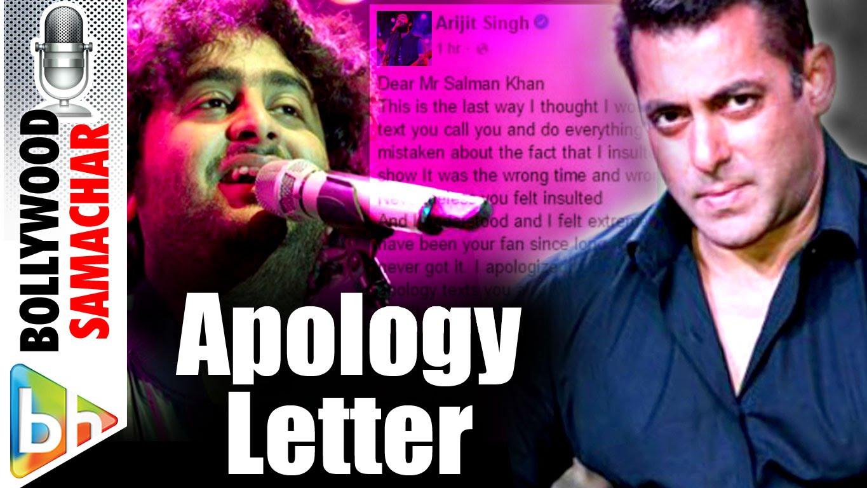 Arijit Singh's Open Letter Of Apology To Salman Khan