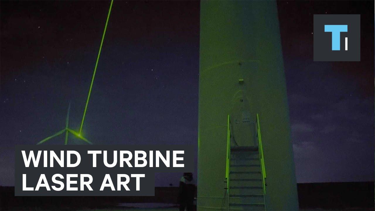 Wind Turbine Laser Art