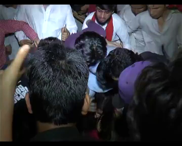 Women Being Harassed, Dragged, Scared, Molested at PTI Rally, Lahore