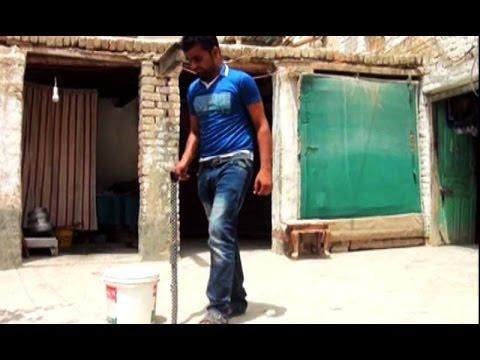 Pakistani Boy Makes Unique Walking Stick