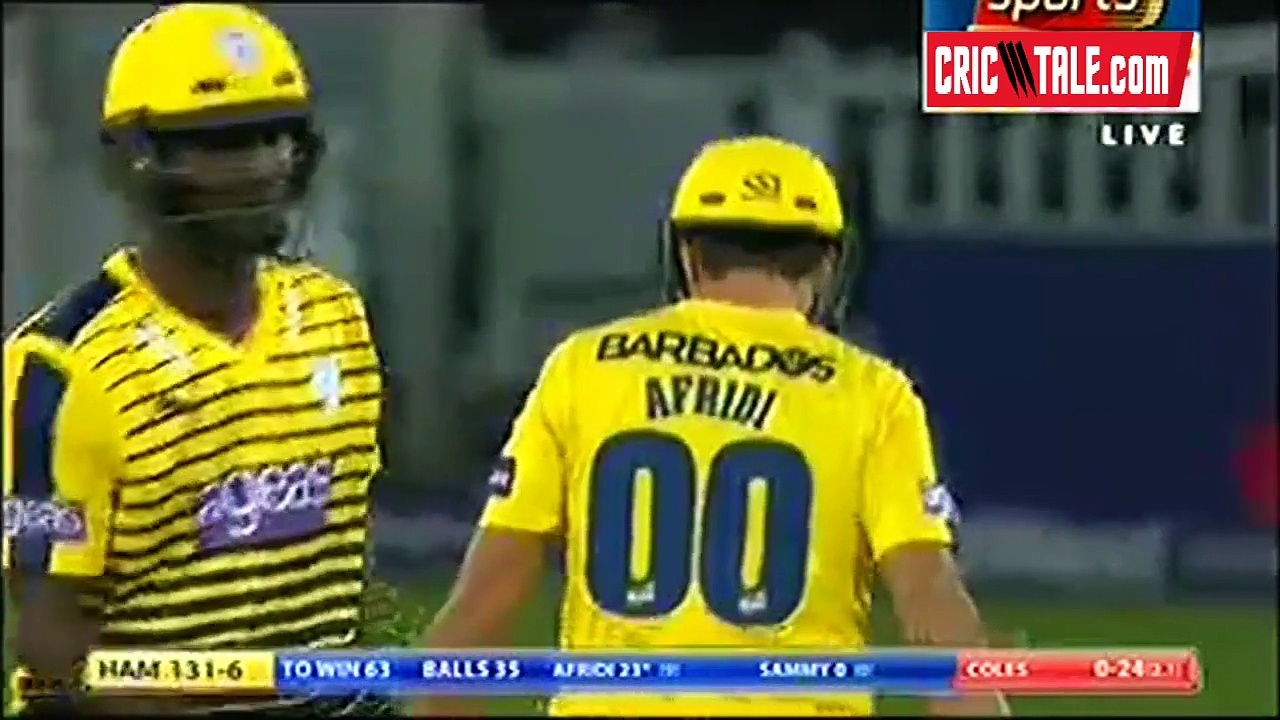 Shahid Afridi 35 Runs in County Cricket 2016