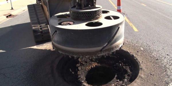 Monster Machine Cutting Manholes
