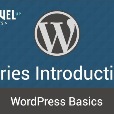 WordPress – Tutorial 1