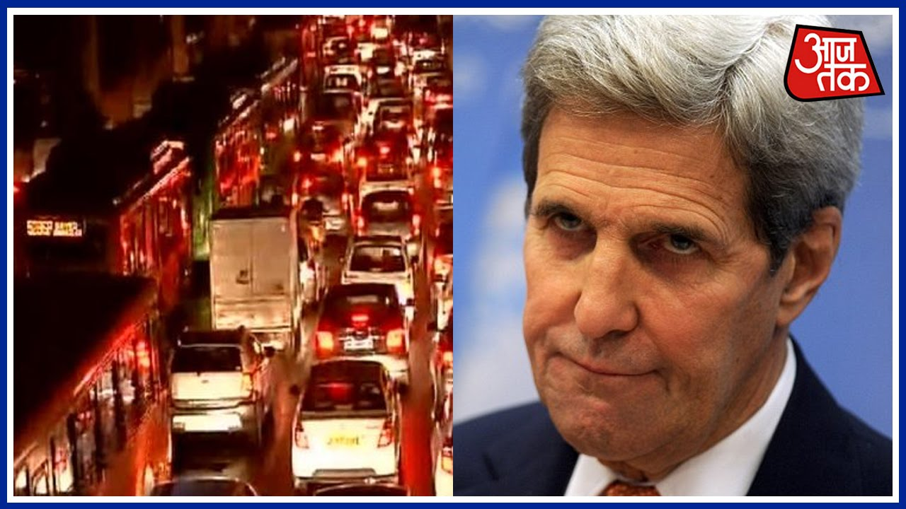 Delhi: John Kerry Stuck In The Traffic Jam For Over An Hour