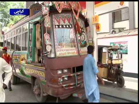 Sparse public transport in Karachi as CNG prices hike across Pakistan