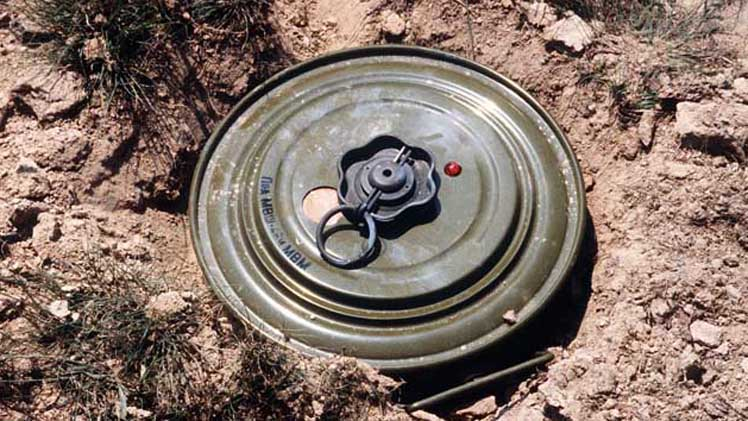 India Made Anti-Tank Mine Defused in Narowal