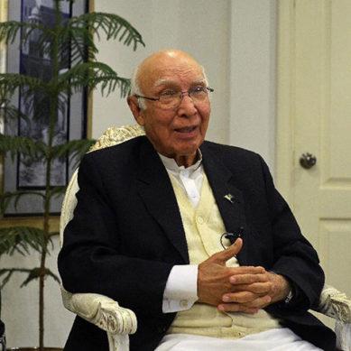 Sartaj Aziz Thrashes Modi's Intention Of Running Pakistan Dry