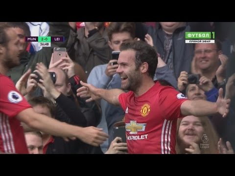 Juan Mata Amazing Goal // Manchester United vs Leicester City 4-1 // EPL 24/09/2016 HD