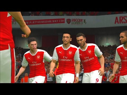 Arsenal vs Chelsea | Premier League 2016/2017 | PES Gameplay PC