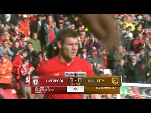 James Milner Penalty Goal – Liverpool vs Hull City 5-1 (Premier League) HD