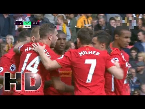 Liverpool vs Hull City 5-1 All Goals and Full Highlights 2016 HD