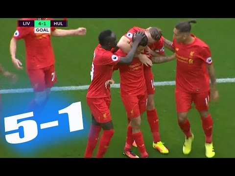 Liverpool vs Hull City 5-1 – All Goals & Highlights – Premier League 24/9/2016