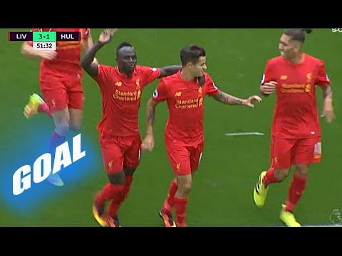 Felipe Coutinho Fantastic Goal vs Hull city – Liverpool vs Hull City 5-1 – Premier League 24/9/2016