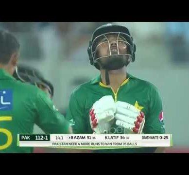Babar Azam 55  runs on 37 balls Pakistan vs West Indies 1st T20 2016