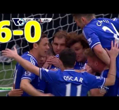 Chelsea vs Arsenal 6-0 Highlights (EPL) 2013-14 HD 720p (English Commentary)