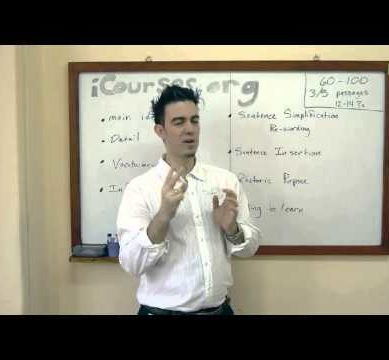 Tips and strategies on TOEFL iBT Reading Section | www.i-Courses.org