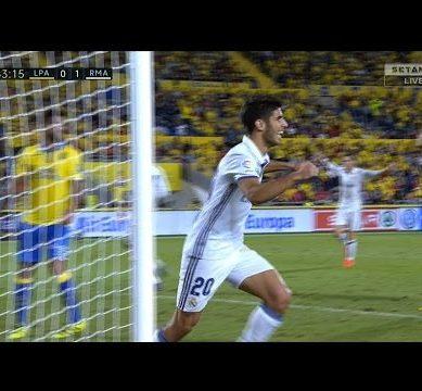 Gol de Marco Asensio Goal Las Palmas vs Real Madrid 1-2 (La Liga 2016-17) 1080p