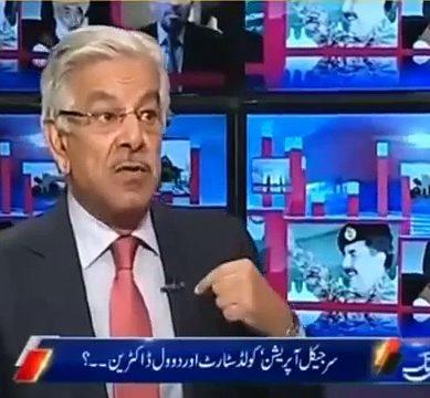 Heated Debate Between Khawaja Asif And Javed Chaudhry