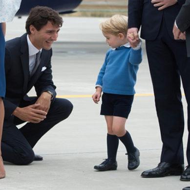 Prince George & Justin Trudeau's Awkward Moment