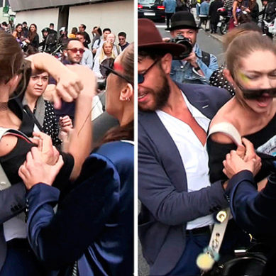 Gigi Hadid Attacked By Prankster