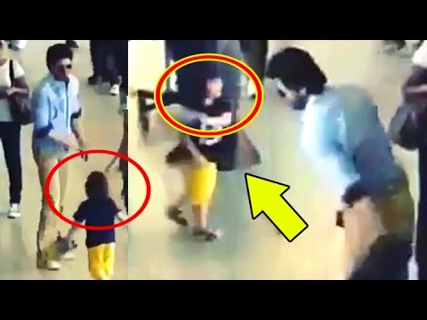 Shah Rukh Khan – Abram CAUGHT PLAYING At Airport