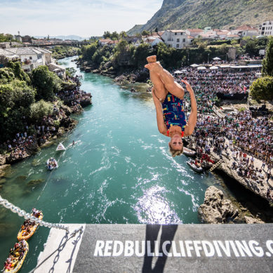 Eye-popping GoPro footage from the Divers' Perspective in Mostar