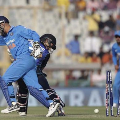 MS Dhoni's Amazing Work To Run Out Ross Taylor